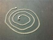 "28"" Gold Curb Chain 14K Yellow Gold 7.7g"